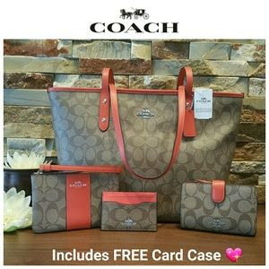 NEW Coach City Zip Tote, Wallet, Wristlet & Case!